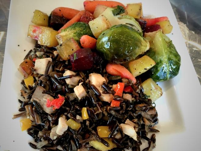 Rice and root veggies